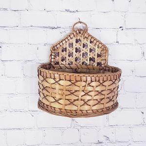 Vintage Hanging Wicker Basket Boho Bohemian Decor